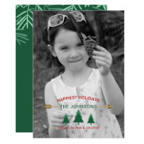 Pine Forest Photo Holiday Greeting Card