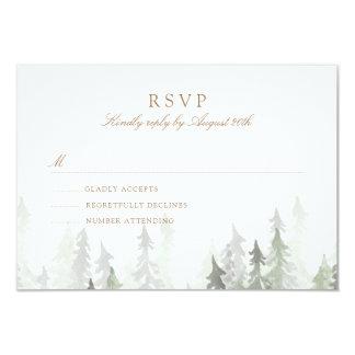 Pine Forest RSVP Card