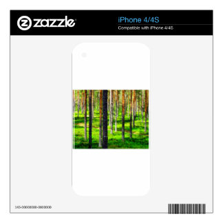 Pine forest iPhone 4 decals