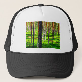 Pine forest trucker hat