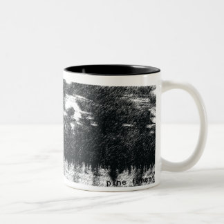 pine forest Two-Tone coffee mug
