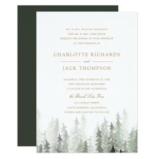 Pine Forest Wedding Invitation