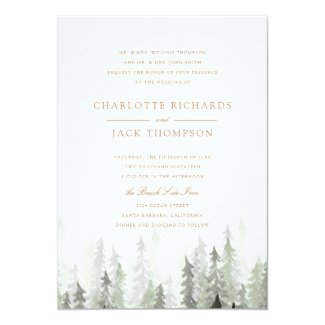 Pine Forest Wedding Invitations
