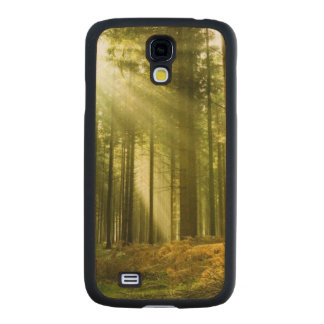 Pine forest with sun shining carved® maple galaxy s4 slim case
