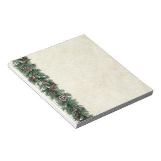 Pine Garland Note Pad