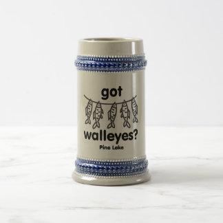 pine got walleye beer stein