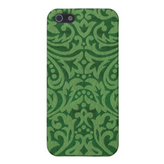 Pine Green Damask Case For iPhone SE/5/5s