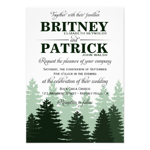 Personalized Enchanted Forest Wedding Invitations ...
