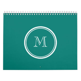 Pine Green High End Colored Monogrammed Calendar