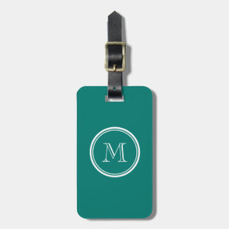 Pine Green High End Colored Monogrammed Luggage Tag