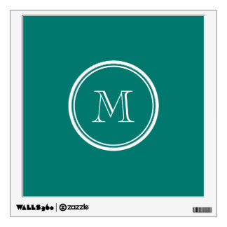Pine Green High End Colored Monogrammed Wall Sticker