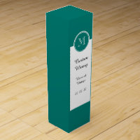 Pine Green High End Colored Monogrammed Wine Gift Box