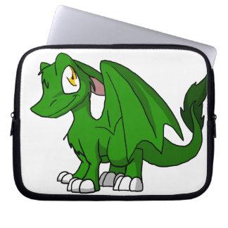Pine Green SD Furry Dragon Computer Sleeve