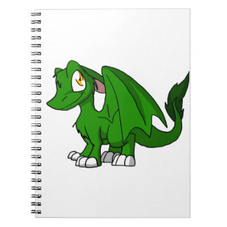 Pine Green SD Furry Dragon Note Books