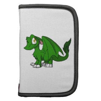 Pine Green SD Furry Dragon Folio Planner