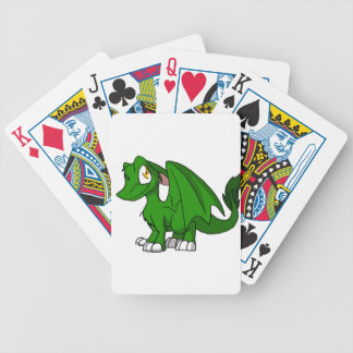 Pine Green SD Furry Dragon Bicycle Poker Cards
