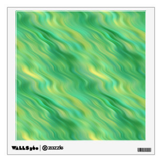 Pine Green Wavy Texture Room Stickers