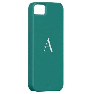 Pine Green White Monogram iPhone SE/5/5s Case