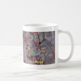 Pine Grosbeak, Birdwatch... Classic White Coffee Mug