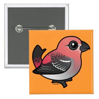 Pine Grosbeak Button