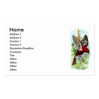 Pine Grosbeak Profile Card Business Card