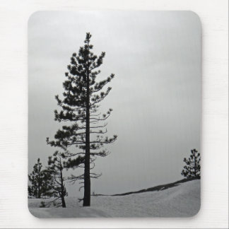 Pine in snow mousepad
