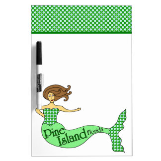 Pine Island, Florida Mermaid Dry-Erase Board