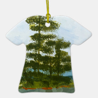 Pine Island Double-Sided T-Shirt Ceramic Christmas Ornament