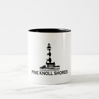Pine Knoll Shores. Two-Tone Coffee Mug