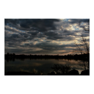 Pine Lake at Dusk Poster