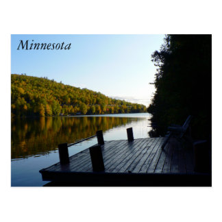 Pine Lake Minnesota Dockside Postcard