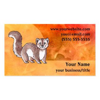 Pine Marten Business Card - Fiery Orange