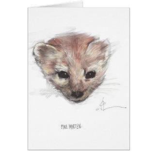 Pine Marten Card