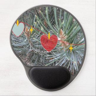 Pine n' Hearts Mousepad Gel Mouse Pad