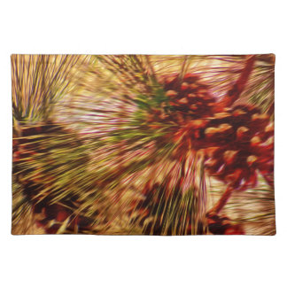 Pine Needle Abstract Gifts Cloth Placemat