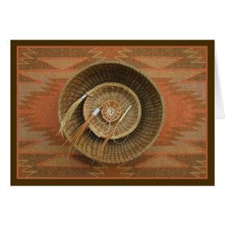Pine-Needle Basketry Greeting Card