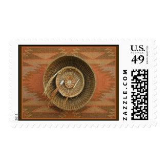 Pine-Needle Basketry Postage