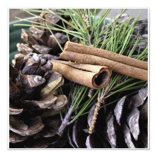 Pine Needles and Cinnamon Personalized Invitation