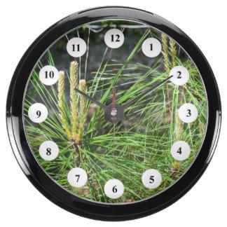 Pine Needles Fish Tank Clock