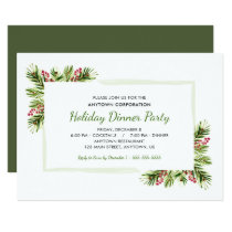Pine Needles | Business Holiday Dinner Party Invitation