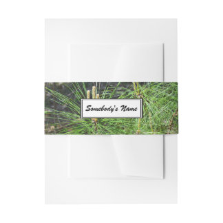 Pine Needles (Personalized) Invitation Belly Band