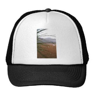Pine needles with dewdrop tips trucker hat