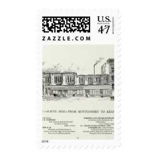 Pine North side Montgomery and Kearny Postage Stamp