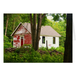Pine Orchard Schoolhouse notecard Greeting Card