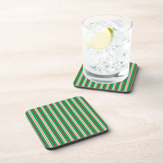 """""""Pine & Peppermint"""" Holiday Coasters"""