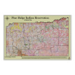 Pine Ridge Reservation Allottments (w/ topography) Print