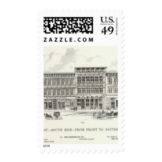 Pine South side Front and Battery Postage Stamps