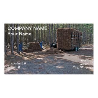 pine straw raking operation business card