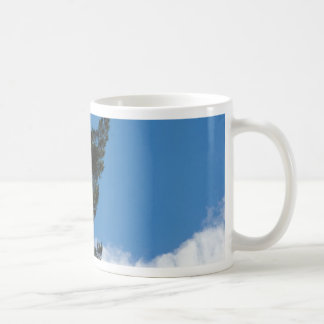 Pine Tree Agains The Blue Sky With Some Cloulds Coffee Mugs