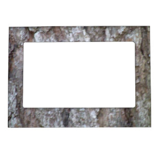 Pine Tree Bark Camo Natural Wood Camouflage Nature Picture Frame Magnets